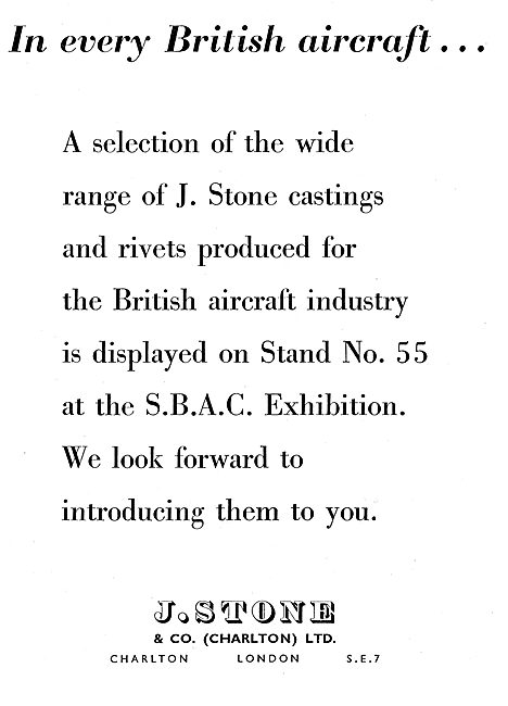 J.Stone & Co - Light Alloy & Elektron Castings - Rivets