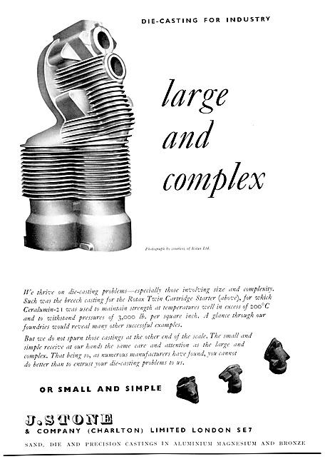 J,.Stone & Co - Light Alloy & Elektron Castings 1954