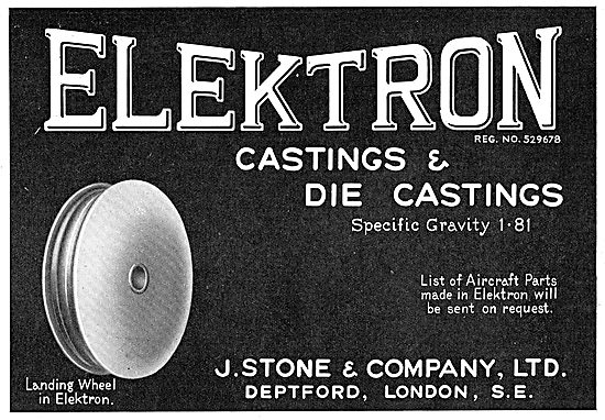 J.Stone & Co - Elektron Castings & Die Castings. SG 1.81