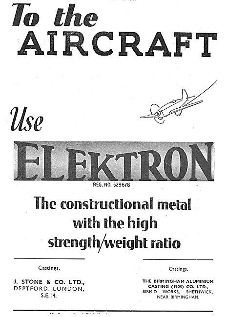 J.Stone & Co - Elektron Metals For Aircraft Construcors