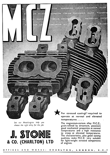 J,.Stone & Co - Light Alloy & Elektron Castings. M.C.Z. MCZ