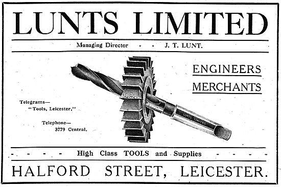 J.T.Lunt - Engineers' Merchants. Halford Street, Leicester
