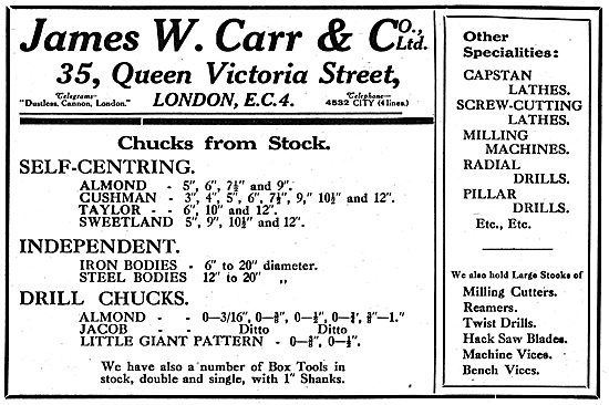 James W.Carr & Co - Machine Shop Tools & Accessories