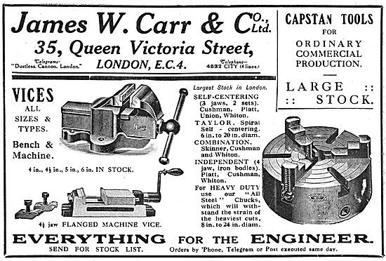 James W.Carr  Machine Shop Tools & Accessories