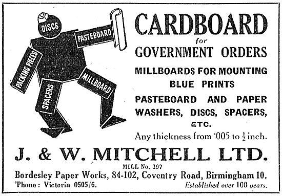 J.& W.Mitchell - Cardboard, Pasteboard & Millboards