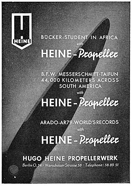 Hogo Heine Propellerwerk : Hugo Heine Propellers
