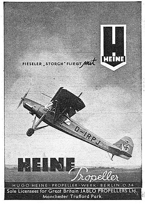 Jablo Propellers Ltd - Heine Propeller. Fiesler Storch