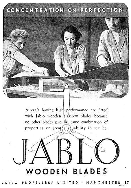 Jablo Wooden Airscrew Blades