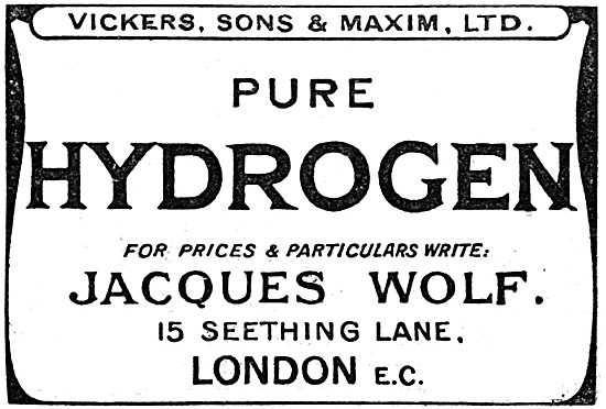 Vickers, Sons & Maxim Ltd. Jacques Wolf. Pure Hydrogen