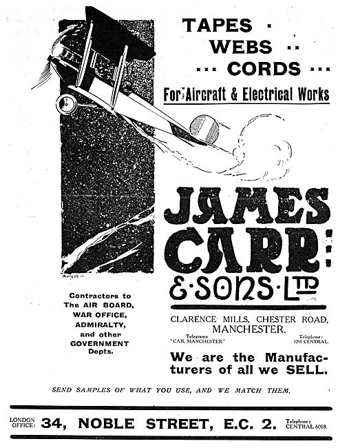 James Carr & Sons - Tapes, Webs & Cords