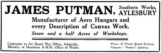 James Putnam. Aylesbury - Aero Hangars & Canvas Work 1917