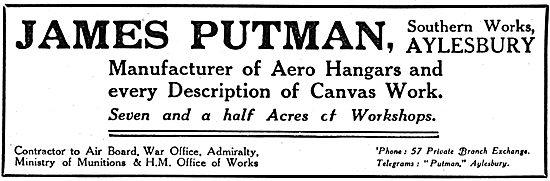 James Putnam - WW1 Aero Hangars & Canvas Work