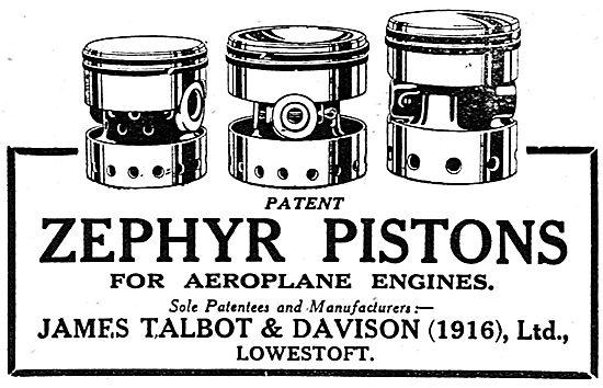 James Talbot & Davison - Lowestoft. Zephyr Pistons