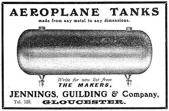 Jennings, Guilding & Company. Aeroplane Tanks