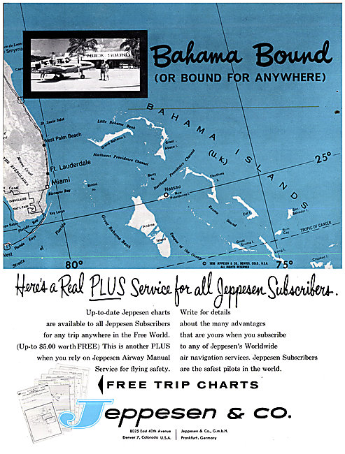 Jeppesen Airway Manuals & Trip Charts 1963