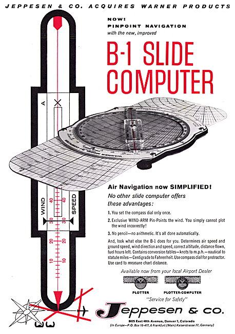 Jeppesen B-1 Slide Navigation Computer