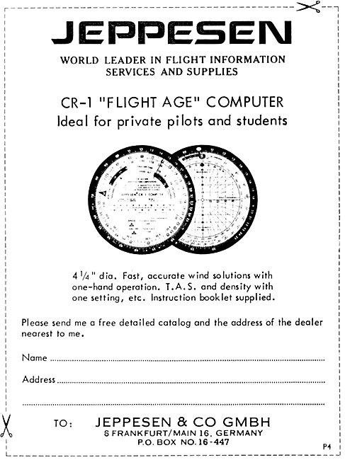 Jeppesen CR-1 Flight Age Computer 1969