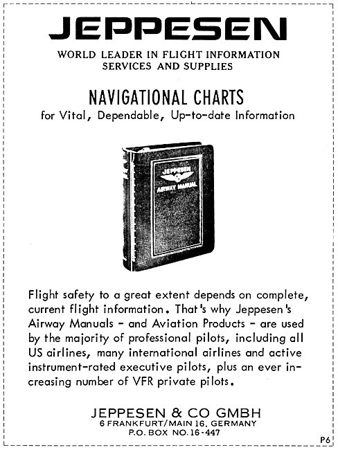 Jeppesen Airway Manuals & Navigational Charts