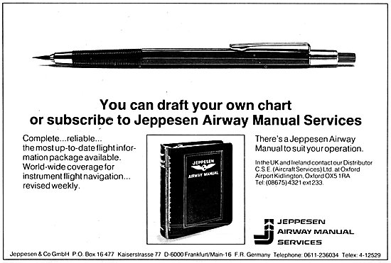 Jeppesen Airway Manuals & Avigation Products For Aircrew