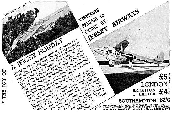 Jersey Airways - De Havilland G-AGZN