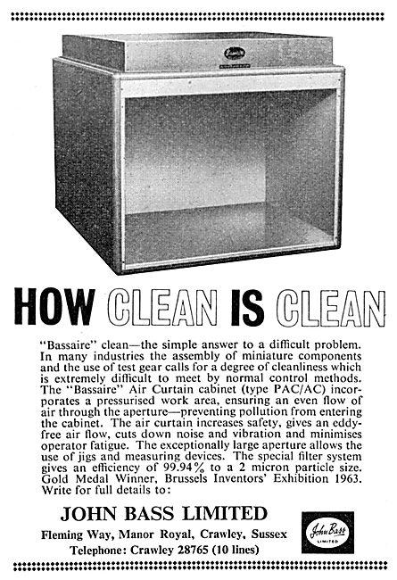 John Bass Ltd. Crawley. BASSAIRE Air Curtain Cleaning Cabinet