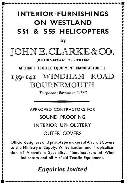 John E.Clarke & Co. Bournemouth. Interior Furnishings