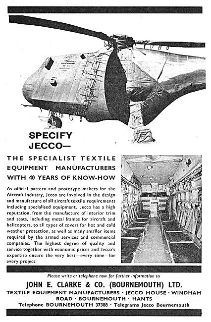 John E.Clark. JECCO Textiles For Aircraft Interiors