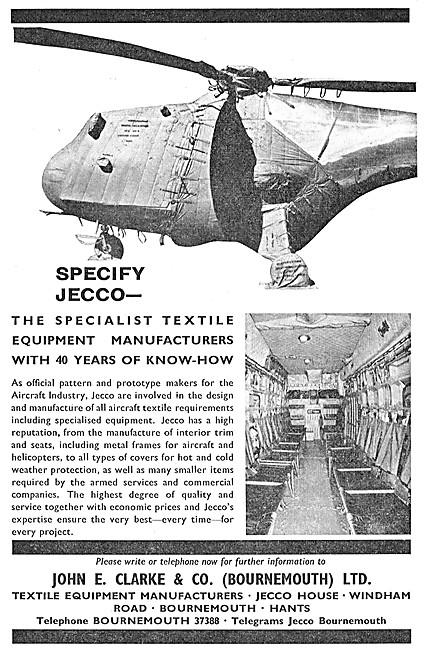 John E.Clarke. JECCO Aircraft Textiles & Furnishings