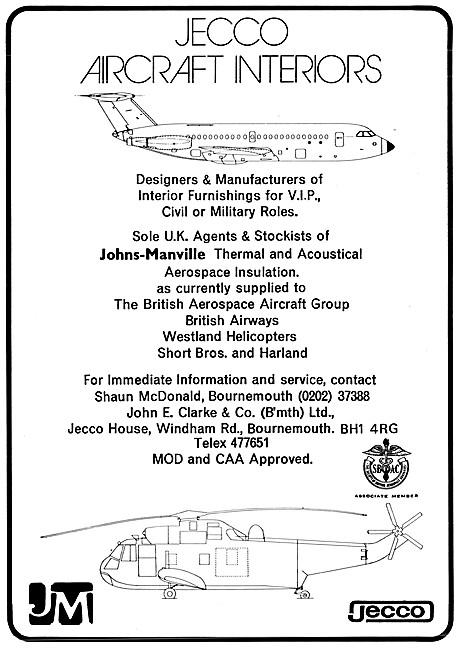 John E.Clarke & Co. JECCO Aircraft Interiors
