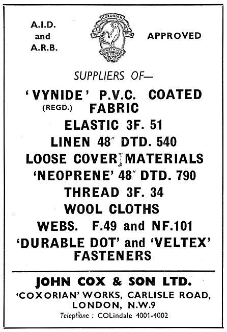 John Cox - Textiles: Vynide Fireprrof Knitted Fabrics