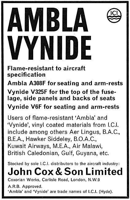 John Cox - Textiles: ICI AMBLA Vynide Fireproof Knitted Fabrics