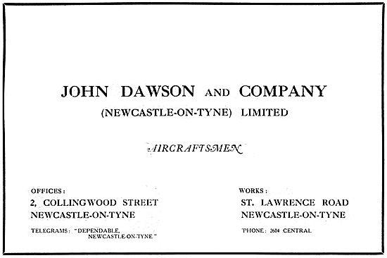 John Dawson & Company. Aircraftsmen 1917