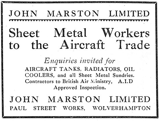 John Marston - Sheet Metal Workers To The Aircraft Trade