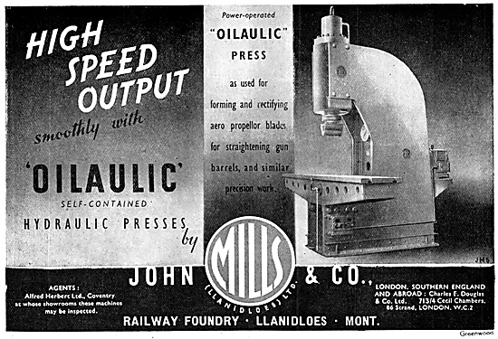 John Mills Machine Tools. Oilaulic Hydraulic Press