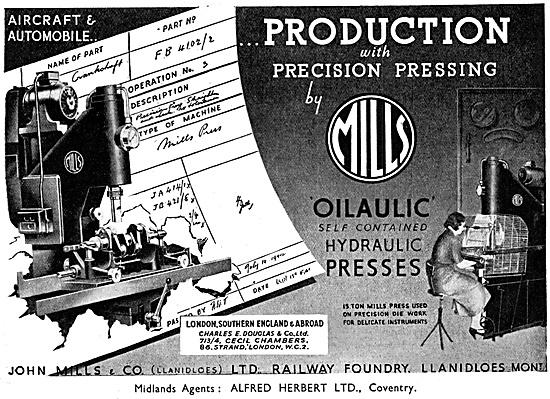 John Mills & Co. Engineering Machinery. Precision Presses
