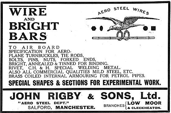John Rigby & Sons - Aero Steel Wires, AGS & General Engineering
