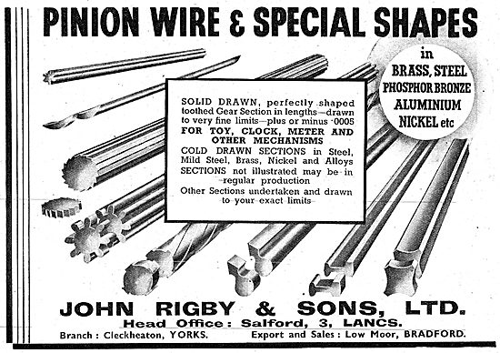 John Rigby & Sons Wire Manufacturers 1942 Advert