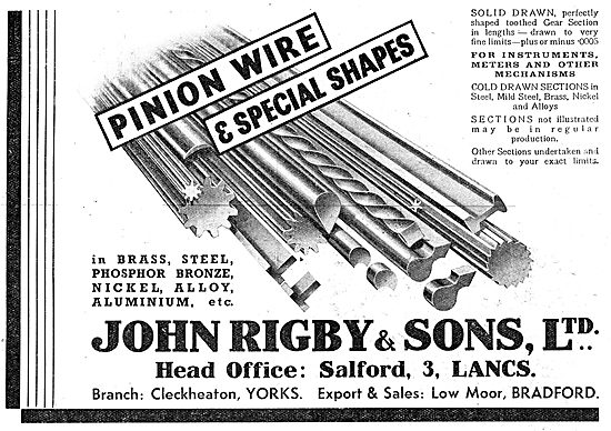 John Rigby & Sons - Wire Manufacturers  Pinion Wire