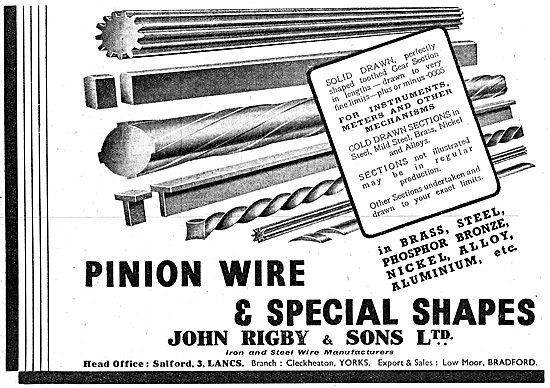 John Rigby & Sons - Pinion Wire & Special Shapes