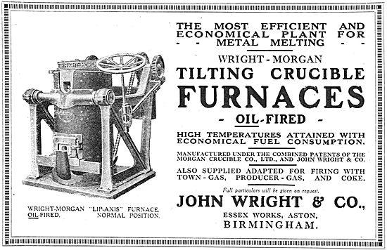 John Wright & Co: Essex Works, Aston. Bham. Furnaces