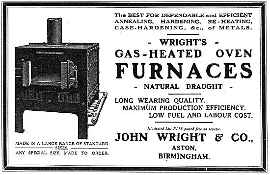 John Wright & Co: Industrial Gas-Heated Oven Furnaces