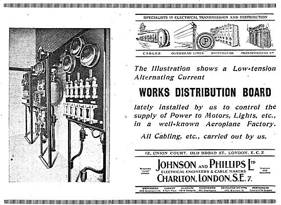 Johnson & Phillips Electrical Distribution Boards For Factories