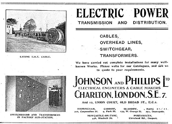 Johnson & Phillips Electrical Power Transmission Systems