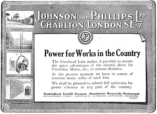 Johnson & Phillips Factory Electrical Switchboards
