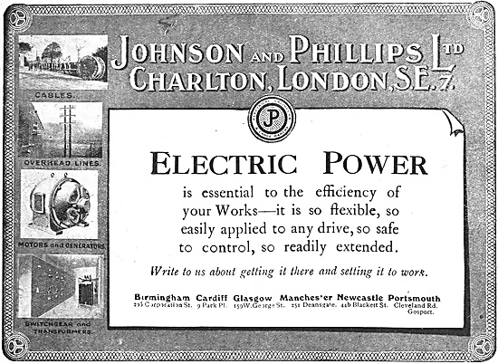 Johnson & Phillips Factory Electrical Power Systems