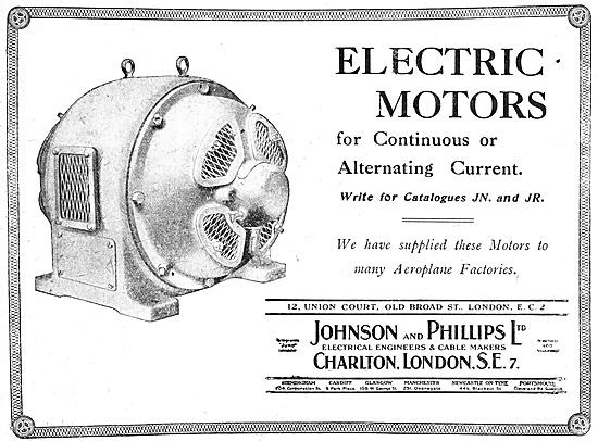 Johnson & Phillips Factory Electrical Motors 1918