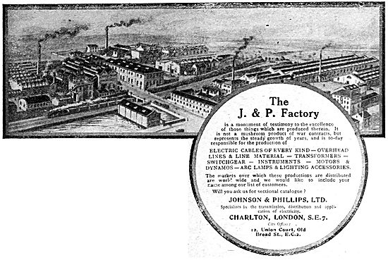 Johnson & Phillips Electrical Engineers & Equipment Manufacturers