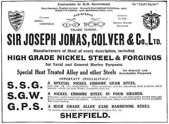 Jonas & Colver Nickel Steel & Forgings