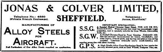 Jonas & Colver Alloy Steels For Aircraft