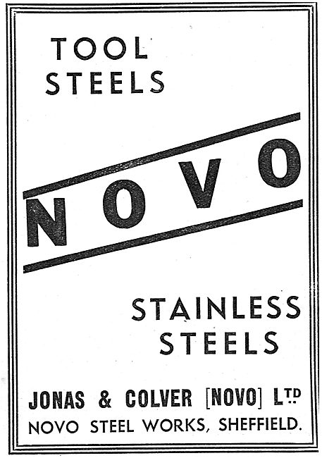 Jonas & Colver Tool Steels Stainless Steels 1939